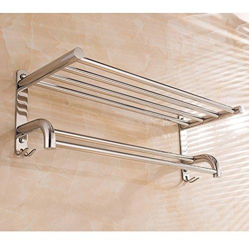 EHTF handtuchhalter bad wand handtuchstange edelstahl badetuchhalter haken Edelstahl Dicke Handtuchhalter mit Haken,80cm hoch und niedrig
