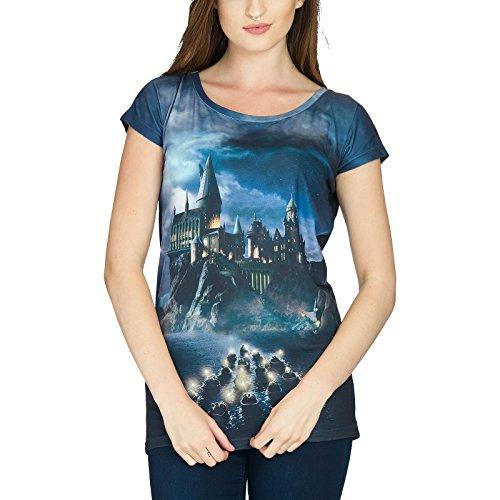Harry Potter Girlie Shirt Hogwarts Loose Fit Elbenwald schwarz Schwarz