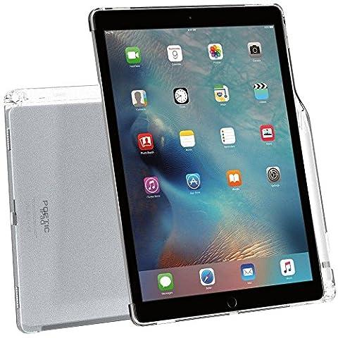 Coque iPad Pro 12,9 , Poetic [Transparent] [Compatible avec le clavier] [porte-crayons] élégant mince en TPU pour iPad Pro 12,9 (2015) avec porte-crayons et compatible avec le clavier Smart d'Apple Givré Clair (Garantie 3 ans du Manufacturier de Poetic)