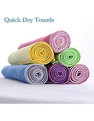 xuanle microfibra Viajes y deportes gimnasio toalla Super absorbente toallas de secado rápido de perfecto para gimnasio, yoga, Golf, Deportes, Pilates, Camping, natación (40cm x 40cm), morado