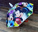 Ekan Kids Umbrella with Cover, Cartoon Character Polyester Umbrella for Kids Gift, Multicolor 30 Grams Pack of 1 (Randomly Printed Design)