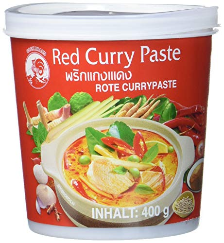 Cock Currypaste, rot, 400 g (Paste Curry Thai Red)