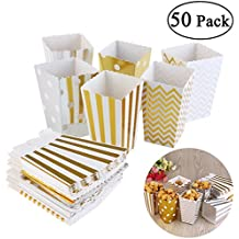 Silber BESTOMZ Popcorn-Boxen 50 St/ück Popcorn Boxen Karton Candy Container Essen Storage Boxen behandeln Kartons