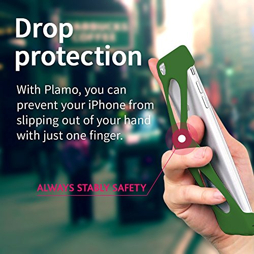 Custodia Case Palmo per iPhone 7plus (Rosso) - Vincitrice del Premio Red Dot: Product Design 2017 e del GOOD DESIGN AWARD 2015 – Test di caduta da parte delle forze armate USA – Controllo con una mano Verde