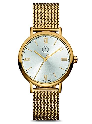 Mercedes-Benz Armbanduhr, Damen, Classic Lady Roman, gold/silber, Edelstahl