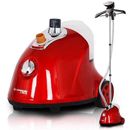 Coco Grande stufa a vapore macchina Home Ironing Clothes Ferro da stiro ferro da stiro verticale (Colore : Red)