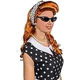 Set Rockabilly années 60 kit de déguisement 4 pcs Lunettes années 50 collier foulard boucles d'oreilles pois vintage rétro pinup set bijoux déguisement costume de carnaval accessoires