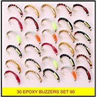 BN X 30 mixed EPOXY BUZZERS trout fly fishing flies SET 90