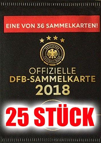 Preisvergleich Produktbild Rewe WM 2018 DFB - Russia Russland Sammelkarten - 25 Karten - Neu incl. WIZUALS STICKER