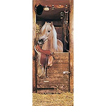 1art1 poster papier peint photo de cheval sebastian 200 x for Poster de porte cheval