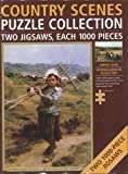 Country Scenes Puzzle Collection Two Jigsaws Each 1000 Pieces - Harvest & Returning from the Fields by Leon Augustin LHe
