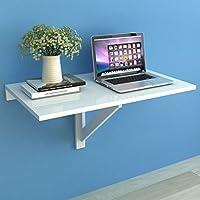Festnight Table Pliable,Table Murale Rabattable en Bois 100 x 60 cm