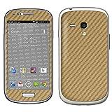 atFolix Samsung Galaxy S3 mini (GT-i8190) Skin FX-Carbon-Gold Designfolie Sticker - Carbon-Struktur/Carbon-Folie