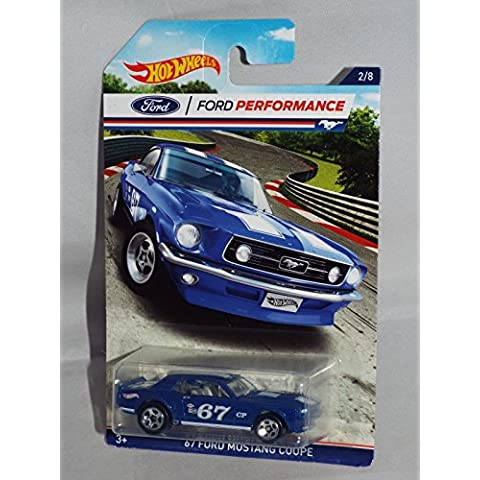 HOT WHEELS FORD PERFORMANCE BLUE '67 FORD MUSTANG COUPE 2/8 by Hot Wheels