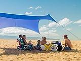 Neso Tents Tenda grande della spiaggia, alta 2,1 metri, 2,7 m (9 piedi) x 2,7 m (9 piedi), angoli rinforzati e tasca più fresca (Blu pervinca)