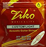 #1: Ziko DAG-011 Extra Light Special Acoustic Guitar Strings (Gold)