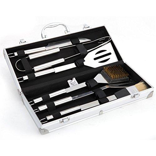 RoseFlower-6-teilig-Hochwertige-Edelstahl-Grillbesteck-Barbeque-mit-Aluminium-Koffer-enthalten-Perfekte-Schwerlast-Professionelle-Grill-Werkzeug-BBQ-Zubehr-Kit