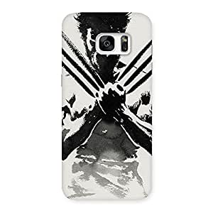 Stylish Ready Wolf Shade Back Case Cover for Galaxy S7 Edge