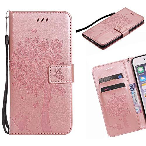 Jonmao Sony Xperia XA1 / Z6 Hülle, Rose Golden Wallet Handyhülle Magnetic Flip PU Leder Stand Schutzhülle für Sony Xperia XA1 / Z6