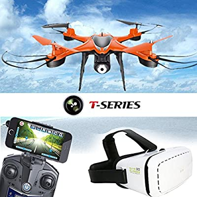 wlgreatsp TT911 WiFi FPV Live Transmission Drone with VR Glasses,High and Low Speed Switch 3D Tumbling LED Lights Headle