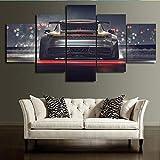 TKKXQT Leinwanddrucke 5 Stück Auto Malerei Wohnzimmer Hd Poster Wohnkultur Wandkunst Kein Rahmen Größe C