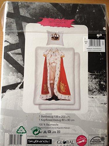 König Bettbezug Bettwäsche-set (Bettwäsche King König Kissenbezug: 80 x 80 cm + Bettbezug: 135 x 200 cm, 100 % Baumwolle mit Reißverschluss)