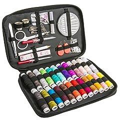 Idea Regalo - [Kit da Cucito] Luxebell 92 Kit di Accessori per Cucire Portatile Professionale Completo Set da Cucito Include Trasporto Borsa da Viaggio Family House