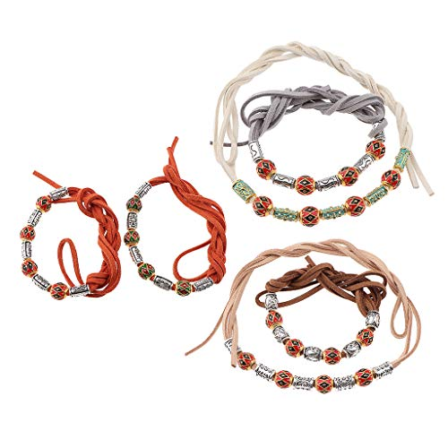 B Baosity 6 Stück Haar Clip Dreadlock-Perlen Manschetten Haar Braid Spirale für Frauen Mädchen...