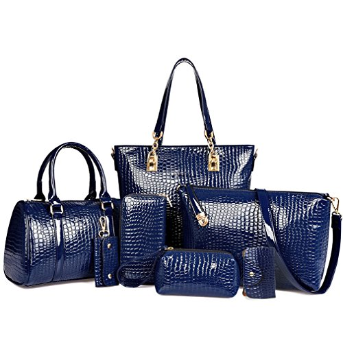 Hoxis - Set assortito di borse da donna, 7pezzi, design
