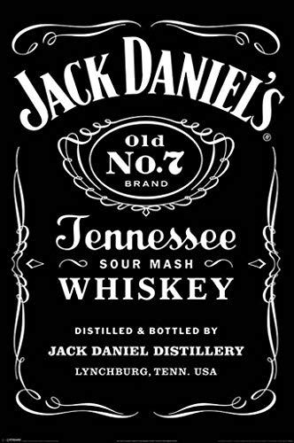 Pyramid International Jack Daniel 's (Label)-Maxi Poster 61x 91,5cm, Kunststoff/Glas, Mehrfarbig, 61x 91,5x 1,3cm
