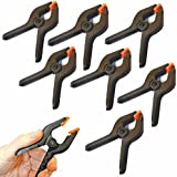8 Plastic Spring Clamps Extra Strength and Grip Clips Textured Handles for easy use clamp