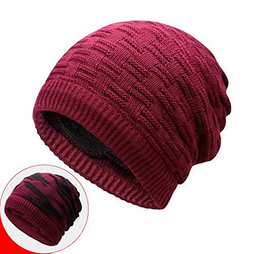 �nner Und Damen Multifunktionale Gestrickte Hut Ski Snowboard Hüte Können Als Schal Maske Hut Für Mehrere Zwecke Verwendet Werden,Red ()
