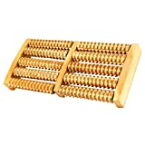 #8: VALAMJI Wooden Roller Foot Massager for Body Stress Acupressure Feet Care for both legs at a time