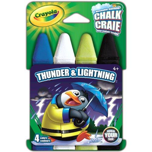 Crayola Build Your Box Thunder N Lightning Chalk (4 Count), Thunder & Lightning