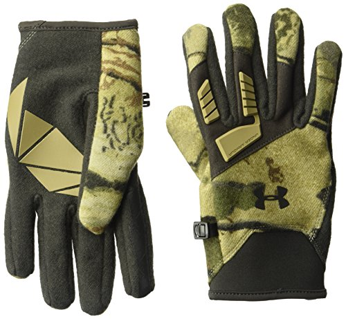 Under Armor Men's Speed Freek Wool Gloves, Ridge Reaper Camo Ba/Cannon, Large -