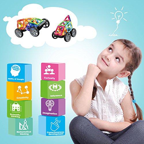Bloques de Construcción Magnéticos Amztronics Magnéticos Construcciones Imantados Magnéticas 39 Piezas Juegos de Construcción Para La Educación Del Niño de Los Ladrillos de Construcción Juguetes Ferris Wheel y Bolsa de Almacenamiento Incluida