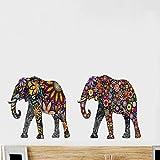dadasite Wandaufkleber Muster Elefant Wohnzimmer Dekoration Wandaufkleber Schwarzlicht PVC Transparente Aufkleber