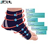 Foot Sleeve Best Plantar Fasciitis For Men & Women Heel Arch Support/ Ankle Sock Compression Medical Technology From iFit Sports (Medium Pair) Buy Fit Stay Fit