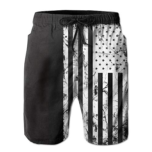 e0dc03fcd2d88 best& Men's American Flag Distressed Quick Dry Summer Beach Surfing Board  Shorts Swim Trunks Cargo Shorts