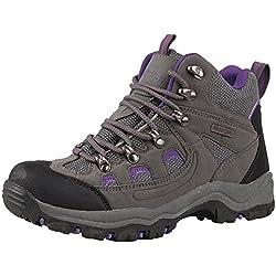 Mountain Warehouse Botas Adventurer para mujer - Botas de agua impermeables, zapatillas altas de tejido y material sintético para caminar, zapatillas de verano Gris 40