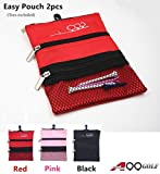 2pcs A99 Golf Easy pouch utility pouch bag with 3 pockets & clip 7 3/4