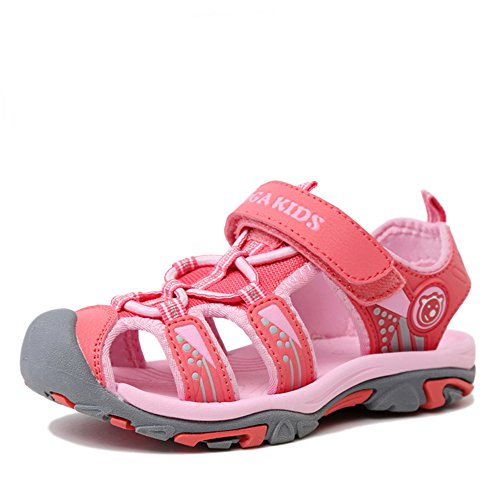 NASONBERG Kinder/Jungen/Mädchen Schuhe Klettverschluss Sommer Sandalen, Gr.-28 EU, Rosa
