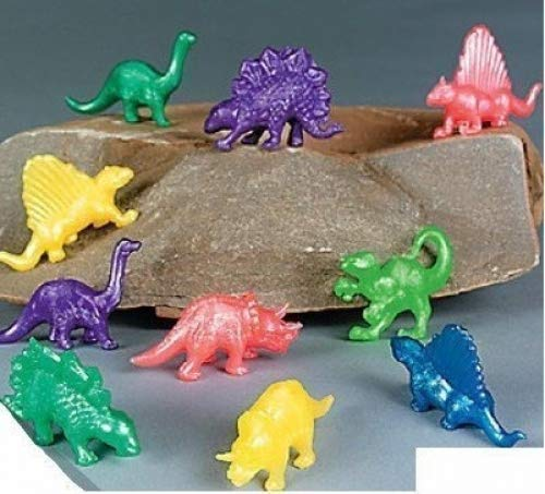 Henbrandt Pack of 20 Stretchy Colour Dinosaurs - Ideal Loot Party Bag Stocking Filler