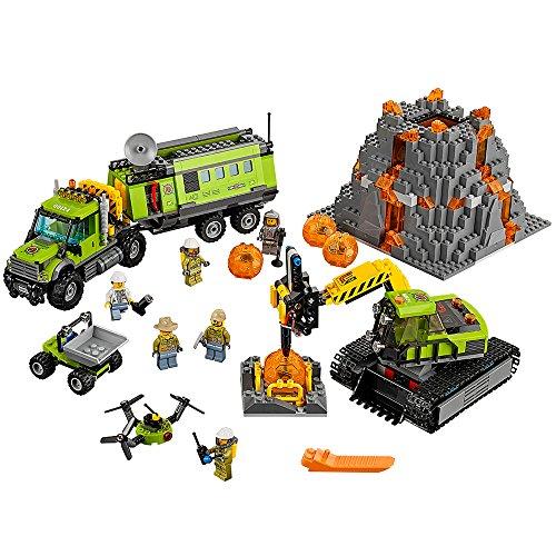 LEGO City Volcano Explorers 60124 Volcano Exploration Base Building Kit (824 Piece) by LEGO 824 Kit