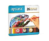 #9: Apsara 101256005 Color Pencils - 26 Shades (Multicolor)