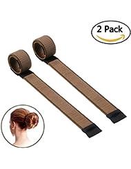 NALATI 2Pcs Coiffure Stylisé Cheveux Bun Maker/Cheveux Donut/Pince Cheveux/Coiffure Clip/Outil Cheveux /Gadget pour Enrouler Cheveux En été