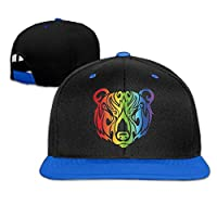 Sdltkhy Rainbow Light Bear Baseball Snapback Hip Hop Cap Customized For Man C3
