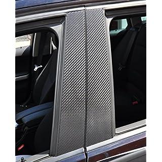 6x Carbon schwarz Türzierleisten Verkleidung B Säule Türsäule passend für Ihr Fahrzeug