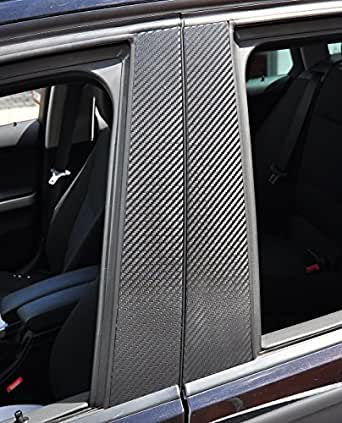 6x carbone porte noire panneau de garnissage B pilier pilier de porte adapté à votre véhicule, vous donnera à votre véhicule un coût de touche sportive