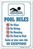 My Schild Center Pool Rules Hinweisschild, Kunststoff – 35,6 x 25,4 cm